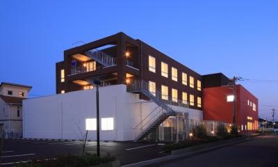 北側外観|色彩のサービス付き高齢者向け住宅|茨城県つくば市|色彩のサービス付き高齢者向け住宅