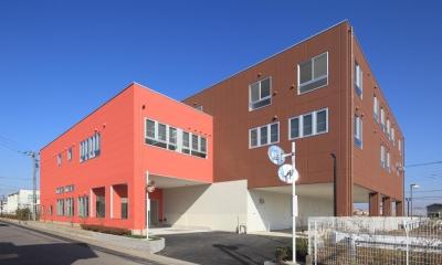 色彩のサービス付き高齢者向け住宅 (南側外観 色彩のサービス付き高齢者向け住宅 茨城県つくば市)