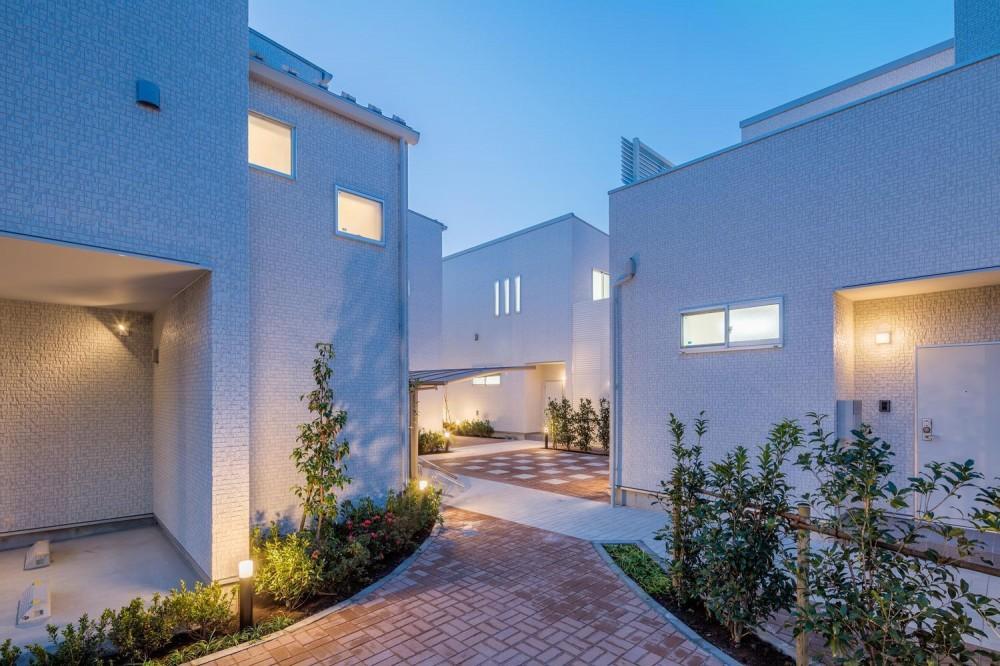 中庭のテラスハウス (南側外観|中庭のテラスハウス|東京都足立区)