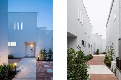 中庭のテラスハウス (西側外観|中庭のテラスハウス|東京都足立区)