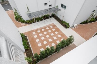 中庭のテラスハウス (中庭|中庭のテラスハウス|東京都足立区)