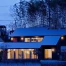 A棟とB棟が1つの家に見える外観