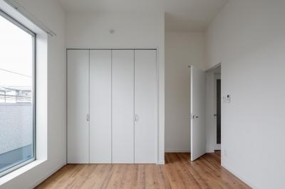 寝室・ベットルーム|中庭のテラスハウス|東京都足立区 (中庭のテラスハウス)
