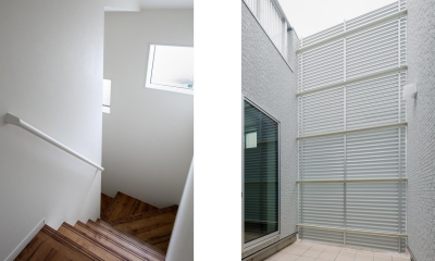 中庭のテラスハウス (階段・中庭|中庭のテラスハウス|東京都足立区)