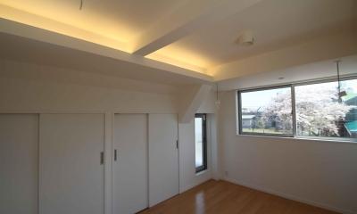 寝室|東京都北区|中庭のある3階建ての家