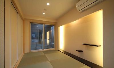 和室・客間|東京都北区|中庭のある3階建ての家
