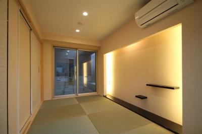 和室・客間|東京都北区 (中庭のある3階建ての家)