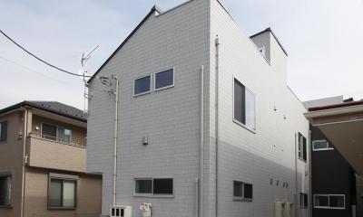 土間の家(狭小住宅) (外観|東京都足立区)