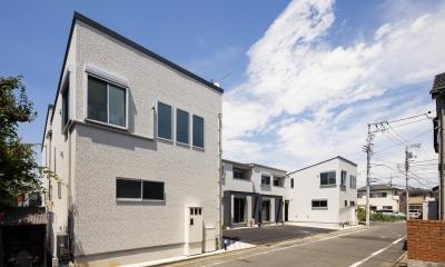 収納の家 (外観|東京都足立区)