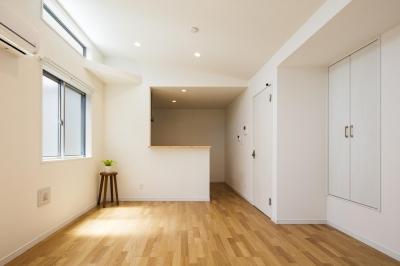 収納の家 (リビング|東京都足立区)