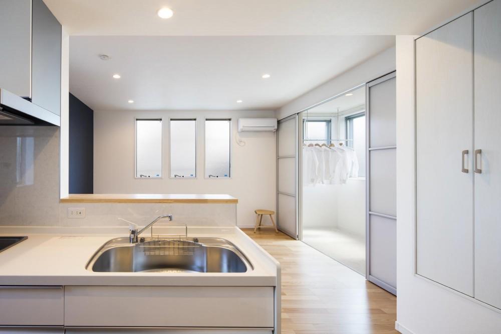 収納の家 (キッチン・リビング|東京都足立区)