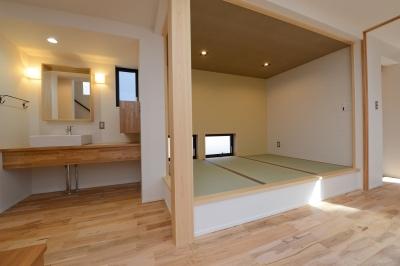 小上がり畳スペース (阿久比町の家)