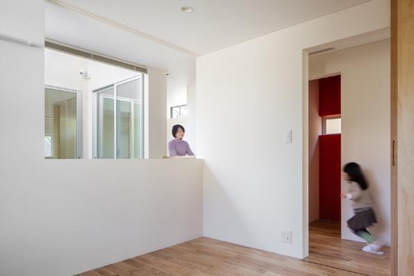 色のある家の部屋 寝室