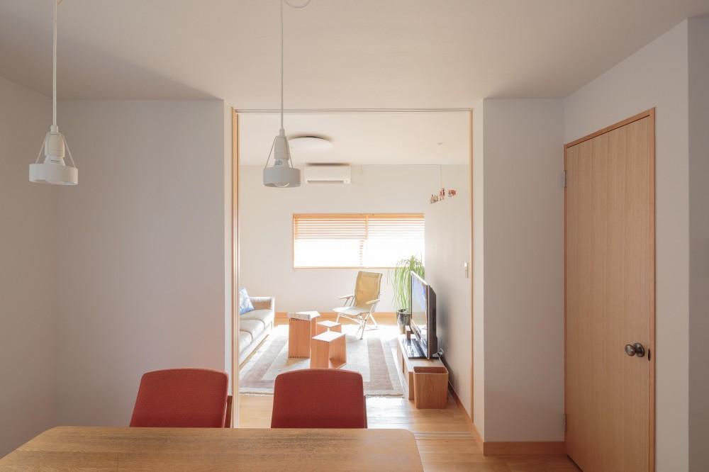 動線と収納を見直した家 (建具を開けた状態)