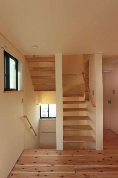 大森西の家 (ストリップ階段)