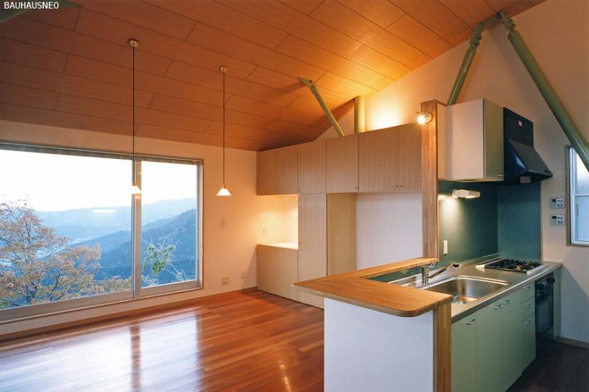 熱海・自然郷の家の部屋 景色を見ながら料理をつくりたい…キッチン