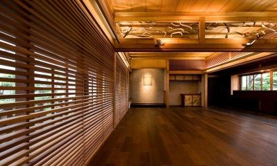 広縁と一体となった多目的スペース (松楠居)