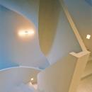 オブジェの様につくりあげた螺旋階段