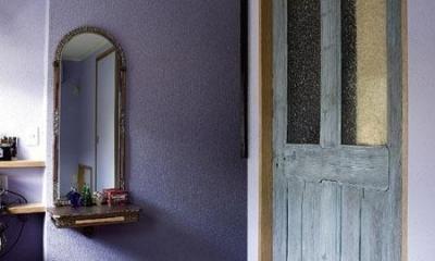 主寝室|アンティークと和のスタイルが鮮やかに溶け合う住まい