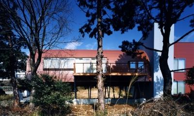 西熱海の陶芸工房のある家 (南側正面からみた外観)
