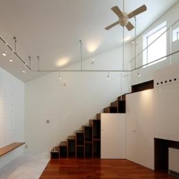 にこいち-はうす~アトリエのある家~ (階段収納)