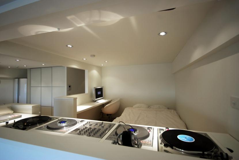 東大島 個人邸 リノベーションの写真 DJブースから寝室