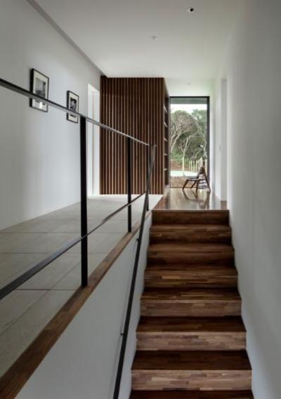 芦ノ湖の別荘 (階段と廊下)