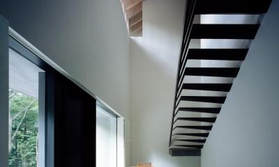 ヤマノイエ (特徴的な階段のあるエントランスホール)