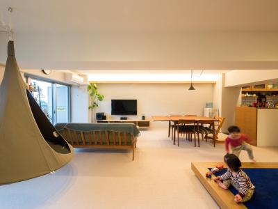 子どもの小上がりのある家 すくすくリノベーションvol.9 (のびのびできるリビングダイニング)