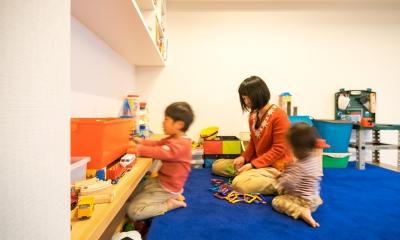 リラックスできるじゅうたんの子ども基地|子どもの小上がりのある家 すくすくリノベーションvol.9