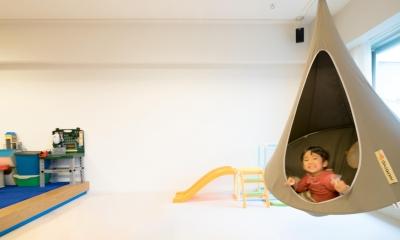 子どもの小上がりのある家 すくすくリノベーションvol.9 (ハンモックも吊るせるゆとりのリビング)