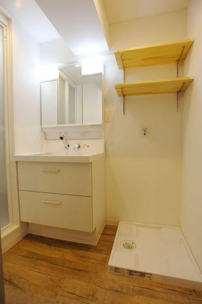洗面室 (しっかり女子のローコスト リノベ)