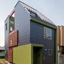 陽が降り注ぐライトコートのある家/東京都阿佐ヶ谷の家の写真 敷地18坪に建てた木造3階建て住宅