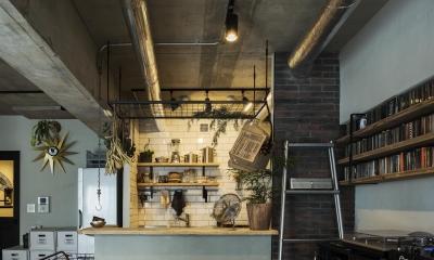 リビングから見たキッチン|MANSION RENOVATION PACK 780 -札幌市中央区Y邸-