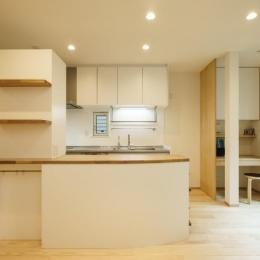 巣鴨の家 (カウンター付きのキッチン)