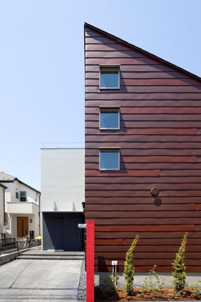 小川の流れる家(めだかはうす)の部屋 外観近景