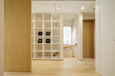 壁面収納 (巣鴨の家)
