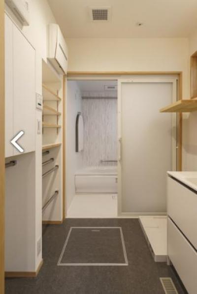 巣鴨の家 (シンプルな洗面室、バスルーム)