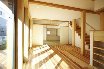 四つ葉 〜光溢れる木の家〜 (リビングダイニング)