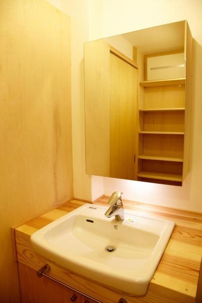 洗面室 (結 〜丸窓のある木の家〜)