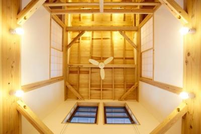 吹抜 (結 〜丸窓のある木の家〜)