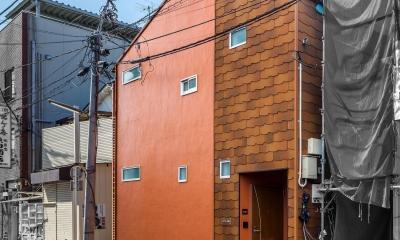 可愛らしく変わった、リノベーションアパートメント (西側外観|リノベーションマンション|)