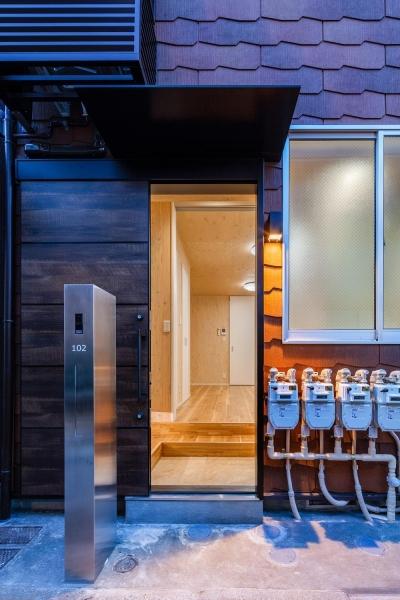外観|リノベーションアパートメント|東京都北区 (可愛らしく変わった、リノベーションアパートメント)