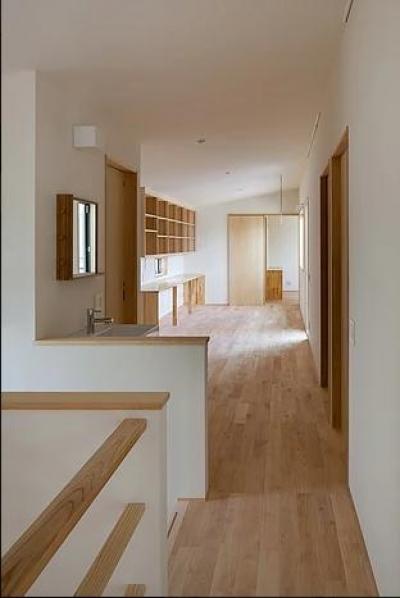 葛飾の家/IW邸 (2階ファミリーのリビングを見通す)