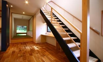 大庭の住まい (階段)
