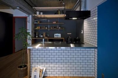 世田谷vintageマンション (オープンキッチン)