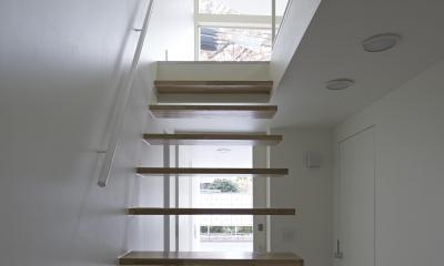 公園の家 (階段 ~ リビング)