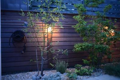 横浜市N邸プロジェクト (ウッドフェンスと夜景)