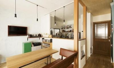キッチン|小上がりの畳スペースを有効活用