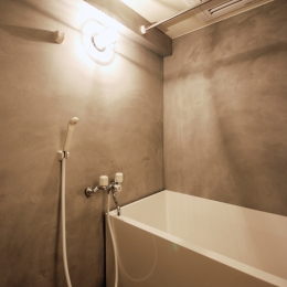 モルタル仕上げのお風呂